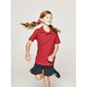 RED KIDS TEFLON PROTECTED COTTON POLO