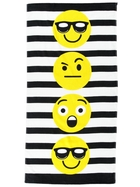 Kids Velour Emoji Beach Towel
