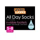 INVISIBLE FOOTLET 3PK UNDERWORKS WOMENS