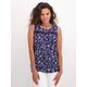 Womens Lace Trim Shell Top