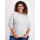Womens Plus Space Dye Sweater