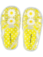 Baby Girl Hard Sole Flower Jelly Shoe
