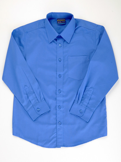 BLUE BOYS LONG SLEEVE SHIRT
