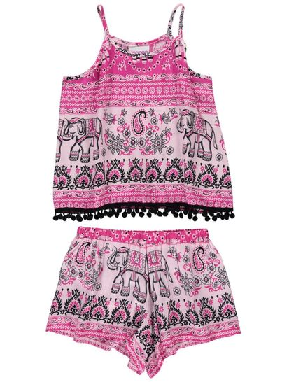 Girls Short And Top Set