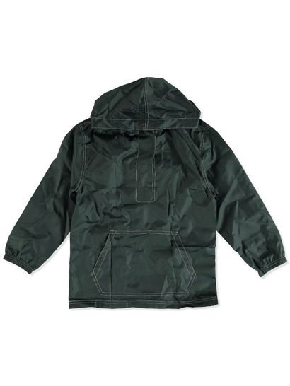 BOTTLE GREEN KIDS PULL OVER SPRAY JACKET