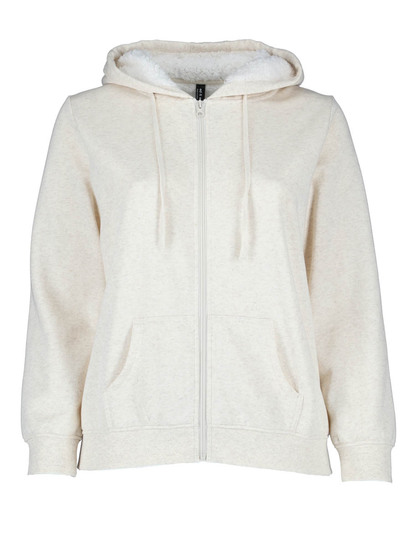 Plus Sherpa Hood Fleece Jacket Womens