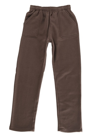 BROWN KIDS FLEECE TRACKPANTS