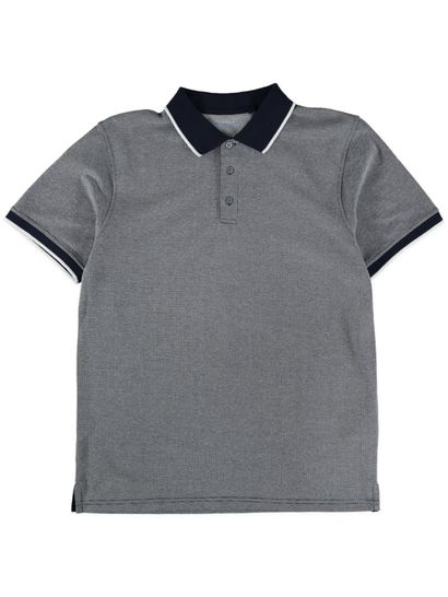 Mens Short Sleeve Textured Polo