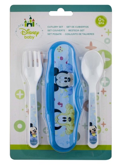 MICKEY MOUSE CUTLERY SET - BPA FREE