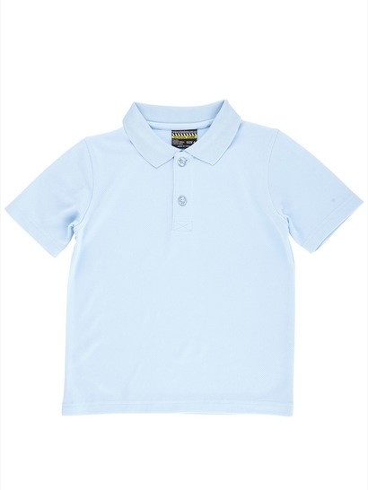 SKY BLUE KIDS MESH POLO