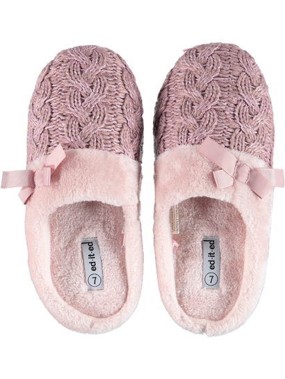 Women Cable Slipper
