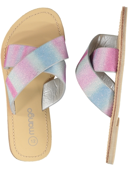 Girls Glitter Cross Over Sandals