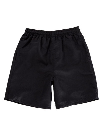 BLACK BOYS MICROFIBRE SHORTS