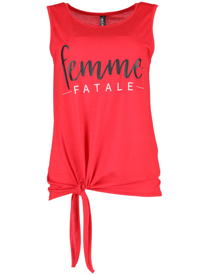 Plus Knot Front Tank Womens