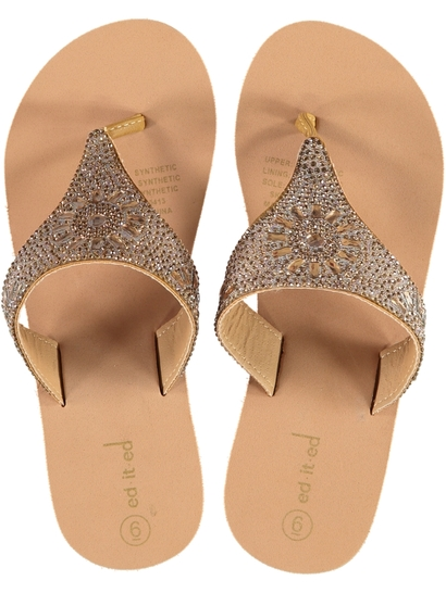 Women Embellished Wedge Thong
