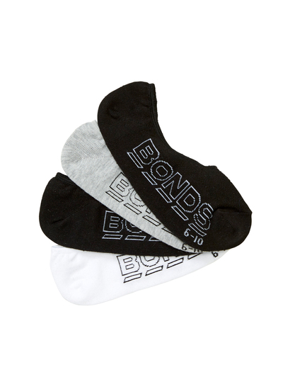Mens 4Pk Bonds Logo Light Sneaker Socks