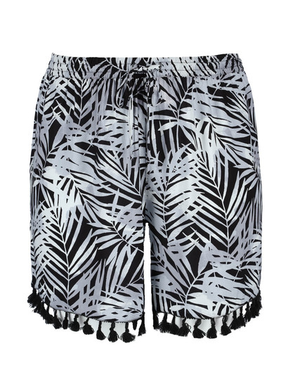 Womens Plus Tassel Short