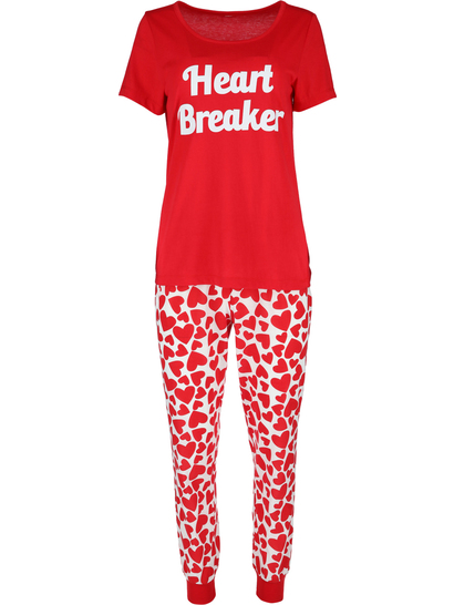 Short Sleeve Jogger Pj Set Plus Womens