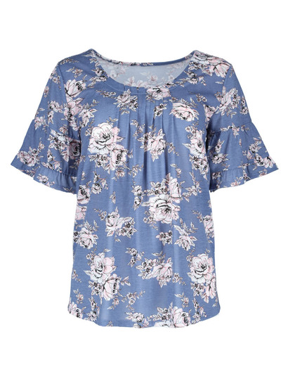 Plus Pintuck Tee Womens