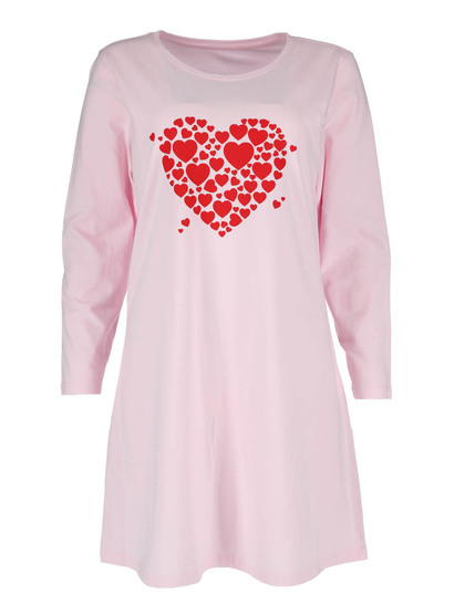 Long Sleeve Knit Nightie Plus Womens