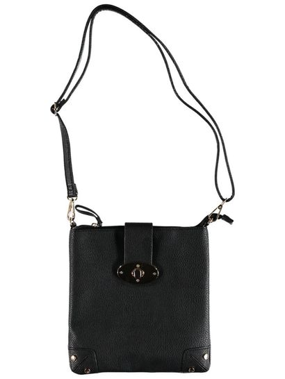 Women Turn Lock Cross Body Bag