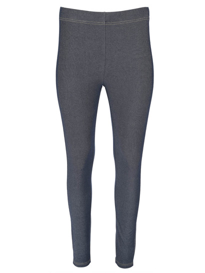 Womens Plus Denim Look Legging