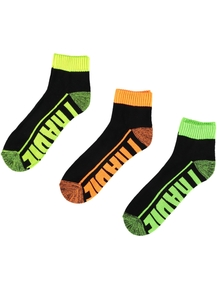 Tradie 3Pk Stay Dry Active Quarter Socks
