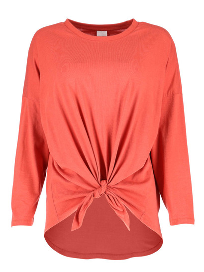 Plus Knot Front Top Womens