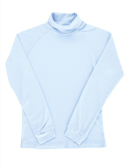 SKY BLUE KIDS INTERLOCK SKIVVY
