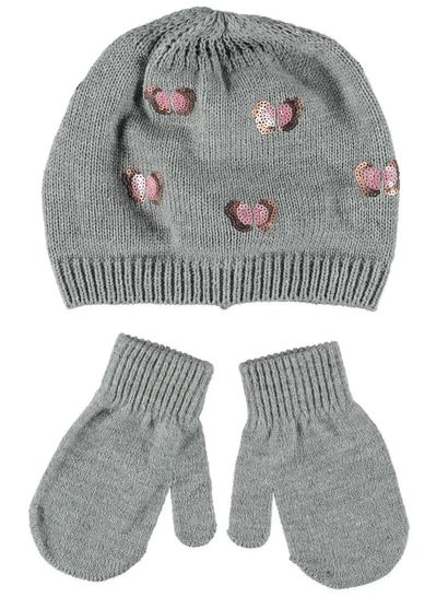 Toddler Girl Beanie Glove Set