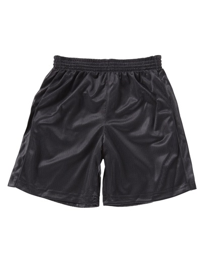 BLACK BOYS MESH REVERSIBLE SHORTS