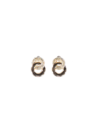 Womens Texture Multi Disk Clip On Earing