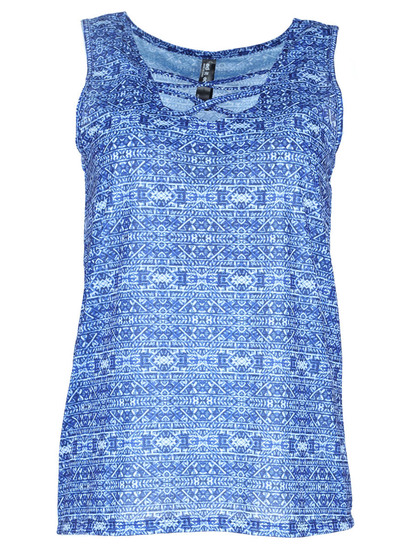 Plus Allover Print Tank Womens