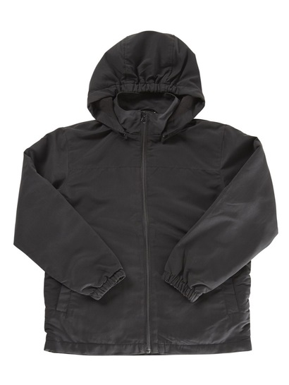 BLACK KIDS JACKET WITH DETACHABLE HOOD