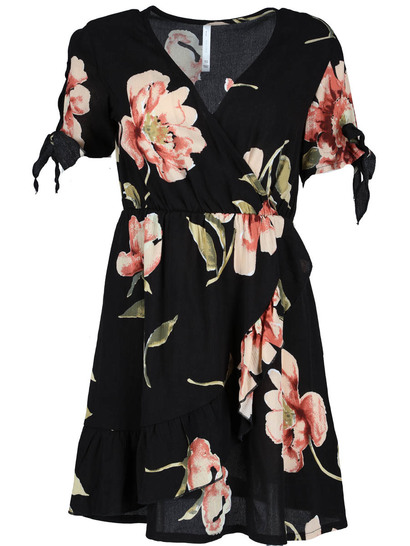 Miss Mango Ruffle Wrap Dress