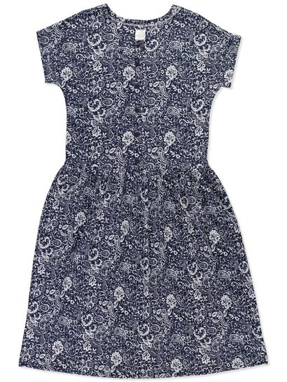 PLUS PRINTED  DROP WAIST KNIT DRESS WOMENS