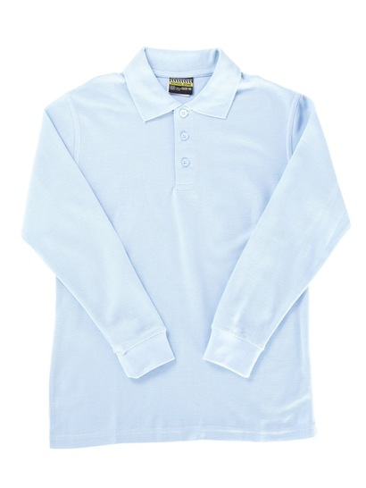 SKY BLUE KIDS BASIC LONG SLEEVE POLO