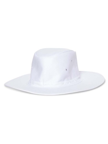 WHITE KIDS WIDE BRIM HAT