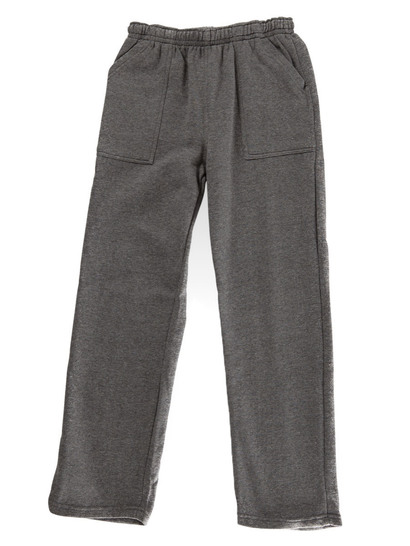 GREY KIDS FLEECE TRACKPANTS