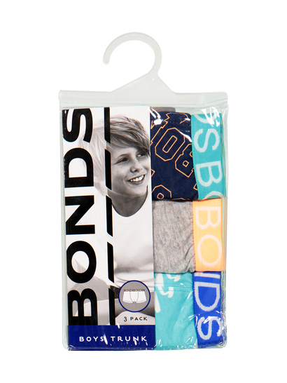 Bonds Boys 3-Pack Trunks
