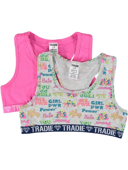 Girls Tradie 2 Pack Crop