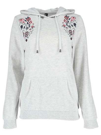Plus Embroidered Hoodie Womens