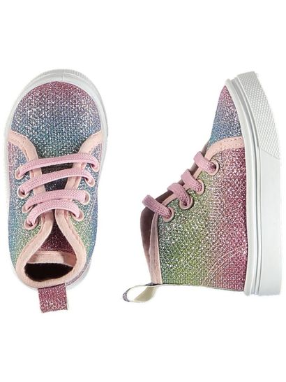 Baby Girl Glitter High Top Shoe