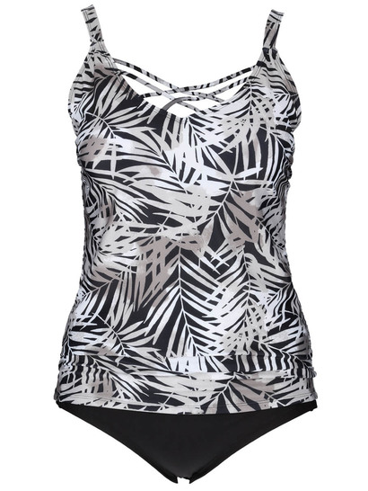 Womens Plus Cross Over Tankini