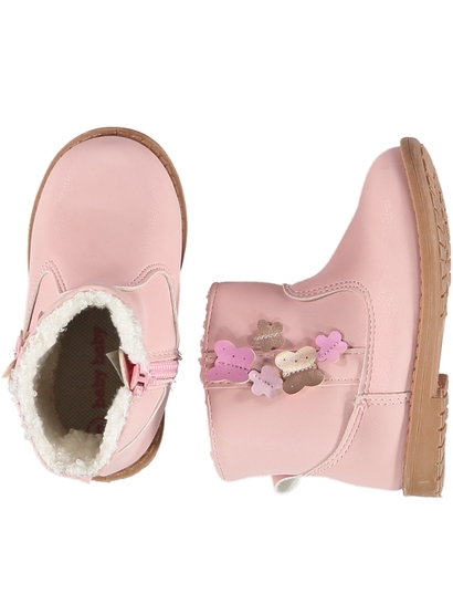 Baby Girl Hard Sole Butterfly Boot