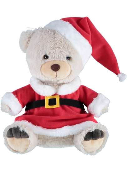 Christmas Teddy Santa
