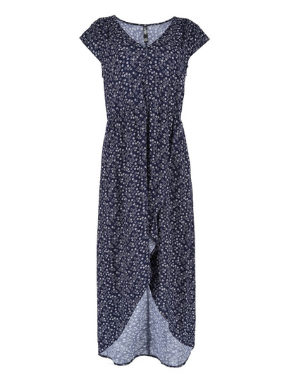 Womens Hi-Low Wrap Maxi Dress