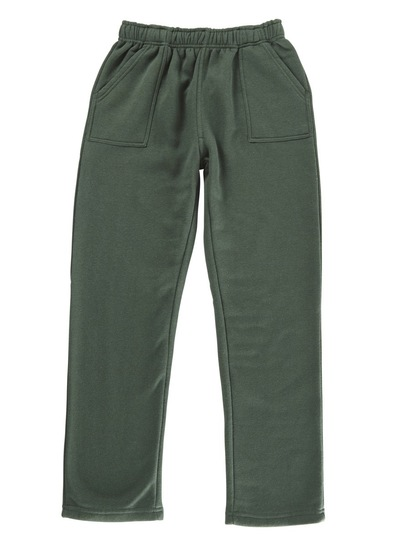BOTTLE GREEN KIDS FLEECE TRACKPANTS