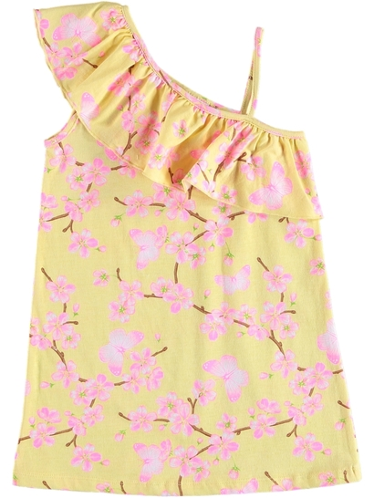Toddler Girls One Shoulder Strap Dress
