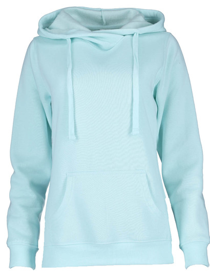 Plus Crossover Neck Hooded Fleece Womens